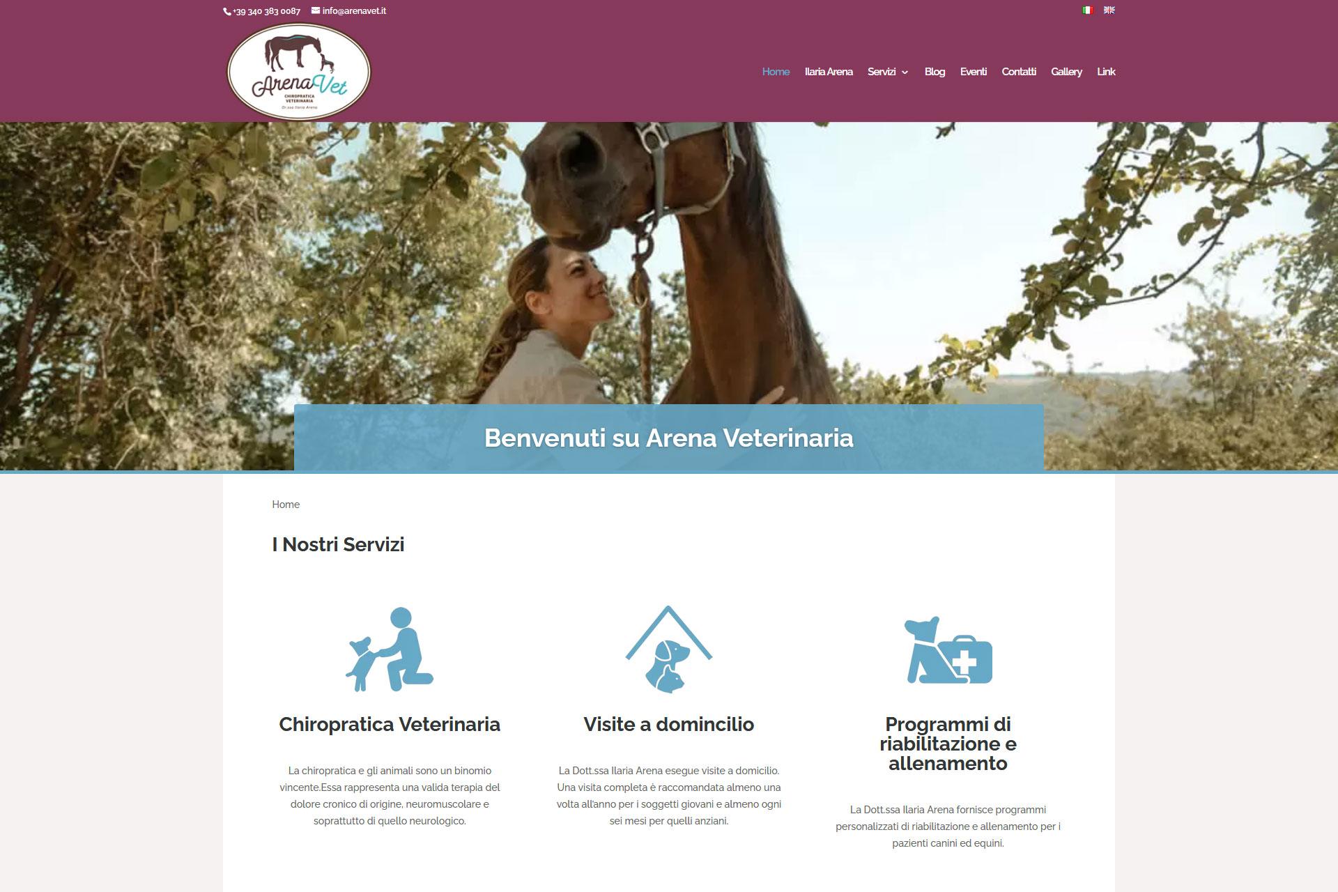 Arena Veterinaria Sito Web