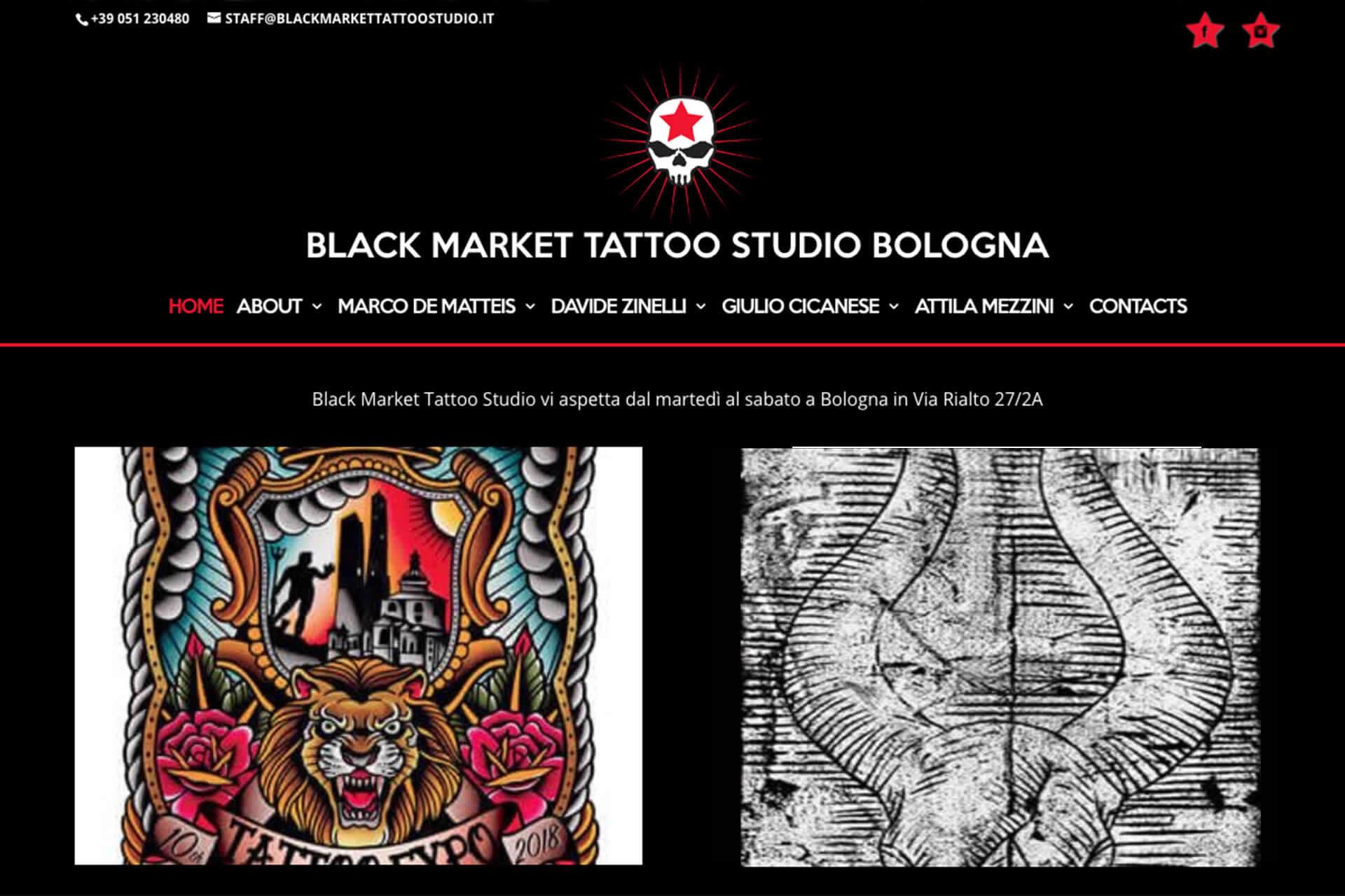 Black Market Tattoo Studio Sito Web