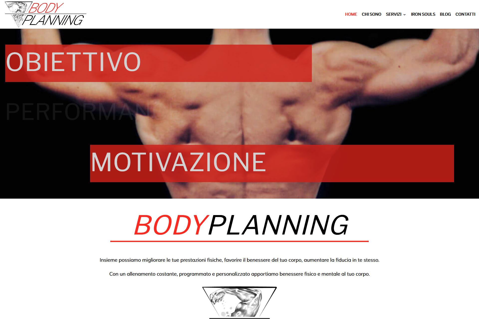 Body Planning Sito web