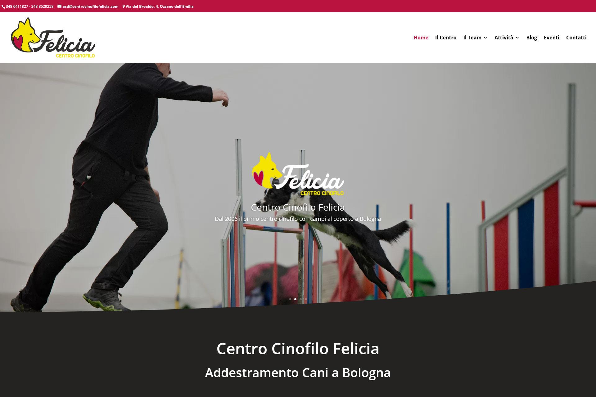 lv-design-realizzazione-siti-web-bologna-portfolio-centro-cinofilo-felicia-slide-1