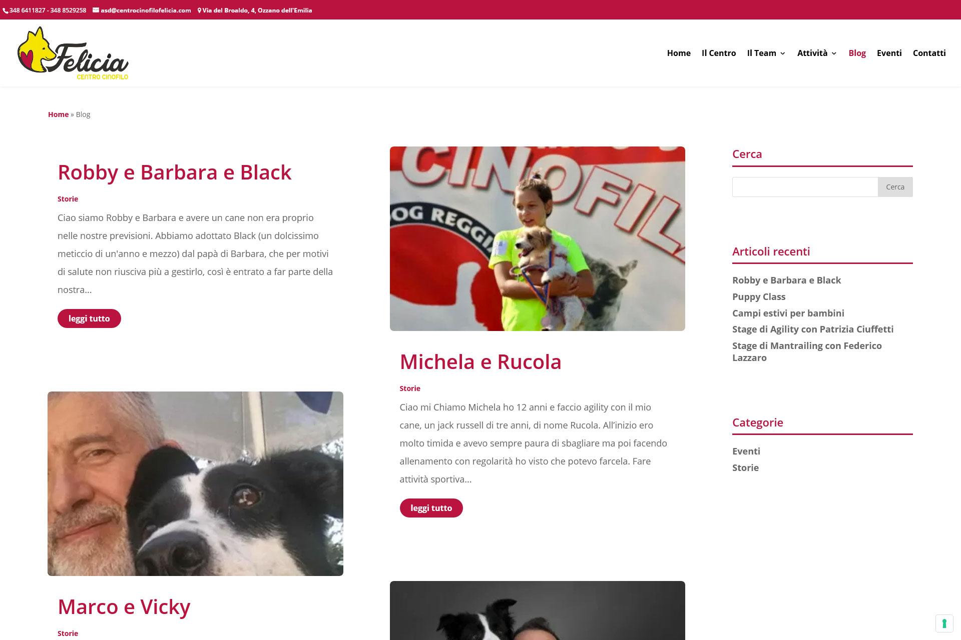 lv-design-realizzazione-siti-web-bologna-portfolio-centro-cinofilo-felicia-slide-3