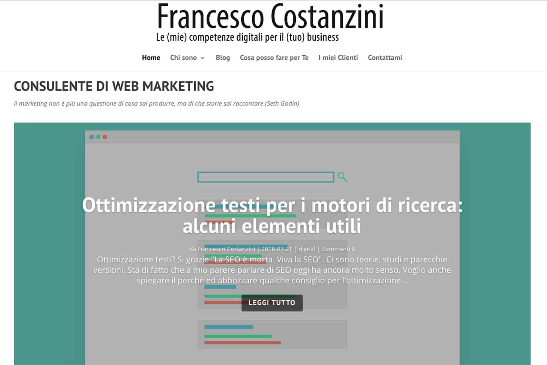 Francesco Costanzini Sito Web