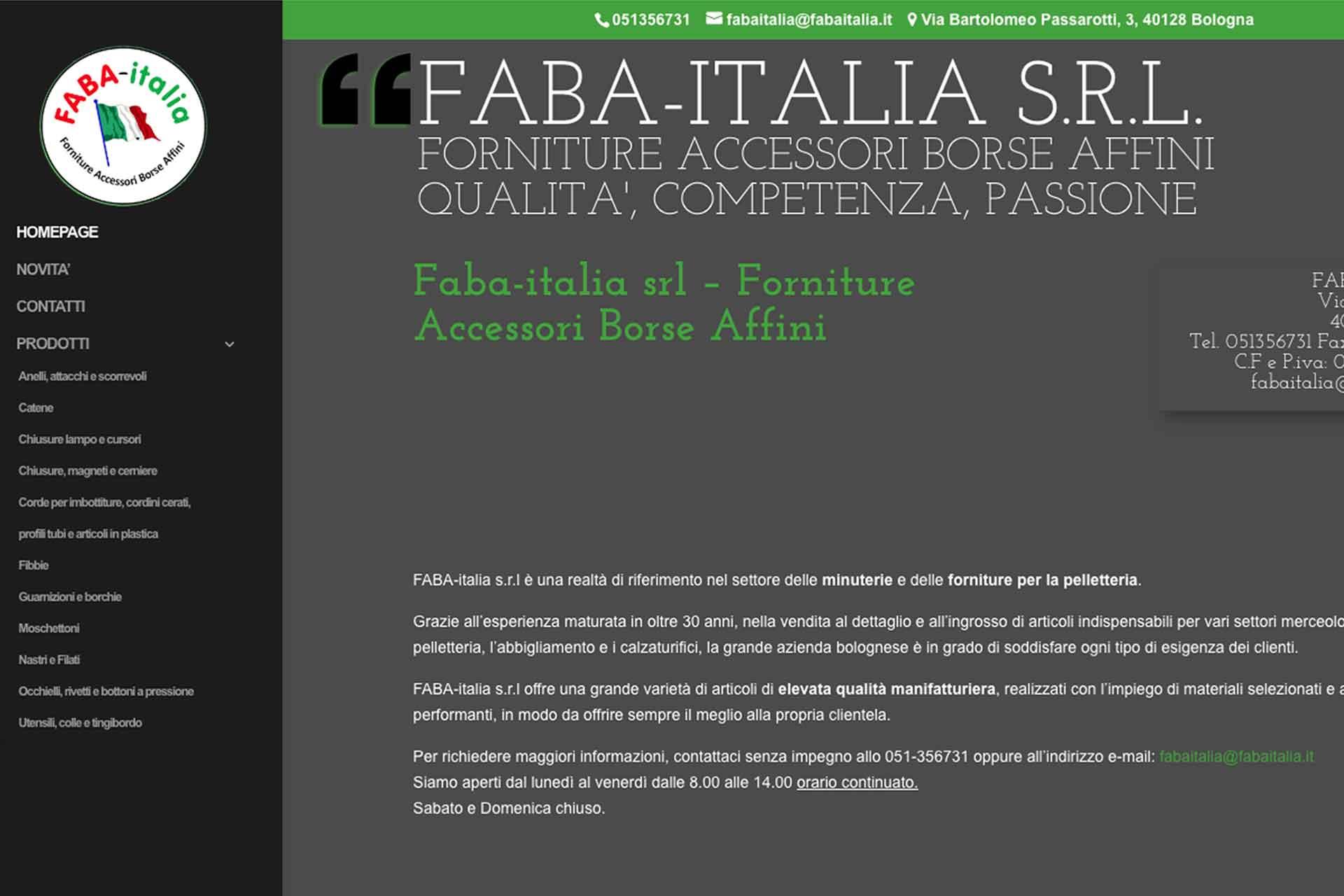 Faba-italia Sito Web
